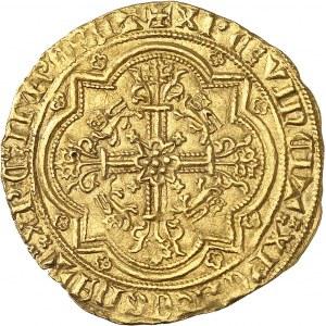 Aquitaine, Édouard III (1325-1362). Léopard d'or, 2e émission ND (juillet 1356).