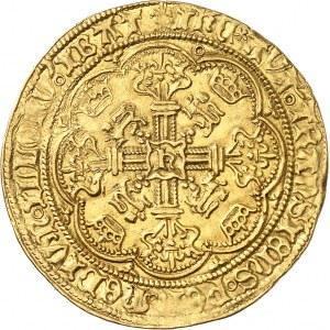 Henri VI d'Angleterre (1422-1453). Noble d'or, 1ère émission à l'annelet ND (1422-1430), Londres.