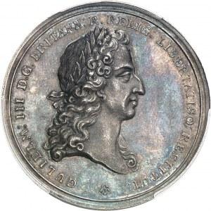 Guillaume et Marie (1689-1694). Médaille, couronnement de Guillaume III par J. Smeltzing 1689, Londres.