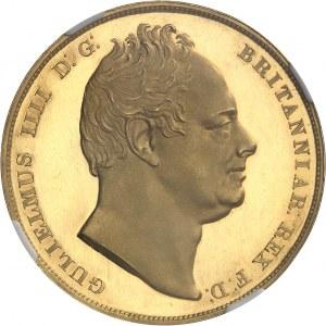 Guillaume IV (1830-1837). Crown (couronne), frappe en or, Flan bruni (PROOF) 1831, Londres.