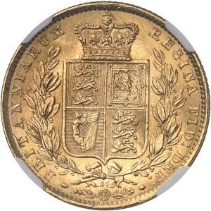 Victoria (1837-1901). Souverain, signature WW en relief, coin #27 1871, Londres.
