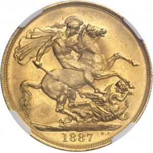 Victoria (1837-1901). 2 livres (2 pounds), jubilé de la Reine 1887, Londres.