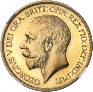 Georges V (1910-1936). 5 livres (5 pounds), Flan bruni (PROOF) 1911, Londres.