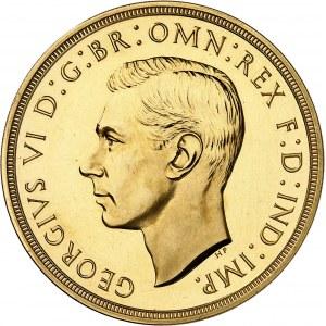 Georges VI (1936-1952). 5 livres (5 pounds), Flan bruni (PROOF) 1937, Londres.