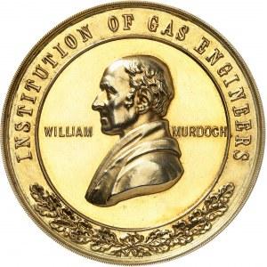 Georges VI (1936-1952). Médaille d'Or, H. E. JONES pour les ingénieurs et dirigeants de l'industrie gazière 1904-1937, Londres.