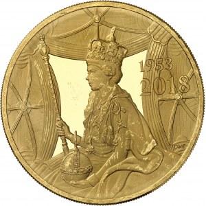Élisabeth II (depuis 1952). 10 livres Trial of the Pyx, 65e anniversaire du couronnement de la Reine (Jubilé de saphir), Flan bruni (PROOF) 2018, Londres.