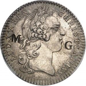 Louis XV (1715-1774). Jeton de 30 sous contremarqué MG pour Marie-Galante par Roëttiers ND 1754, Paris.