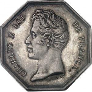 Charles X (1824-1830). Jeton de la Banque de la Guadeloupe par Barre 1826 (après 1880), Paris.