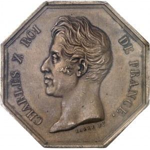 Charles X (1824-1830). Jeton de la Banque de la Guadeloupe par Barre 1826, Paris.