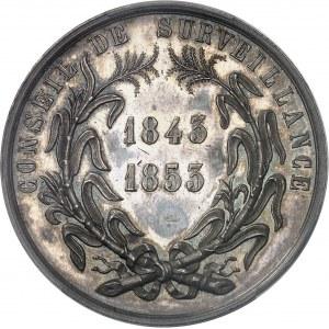 Second Empire / Napoléon III (1852-1870). Jeton du Conseil de surveillance des Usines centrales de la Guadeloupe 1843-1853 (1860-1879), Paris.