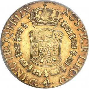 """Charles III (1759-1788). 8 escudos """"à la tête de rat"""" 1768 G, G, Guatemala."""