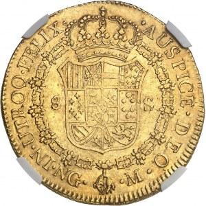 Ferdinand VII (1808-1817). 8 escudos 1808/1 M, NG, Guatemala.