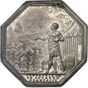 Louis XVI (1774-1792). Jeton de la Compagnie de la Guyan[n]e Française et Société d'agriculture de Paris ND (1774-1793), Paris.