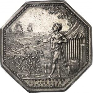 Louis XVI (1774-1792). Jeton de la Compagnie de la Guyan[n]e Française, agriculture et com[m]erce ND (1774-1793), Paris.