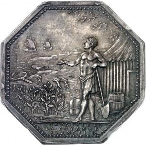 Louis XVI (1774-1792). Jeton de la Compagnie de la Guyan[n]e Française, agriculture et com[m]erce ND (après 1880), Paris.