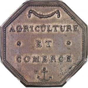 Louis XVI (1774-1792). Jeton de la Compagnie de la Guyan[n]e Française, agriculture et com[m]erce ND (1845-1860), Paris.