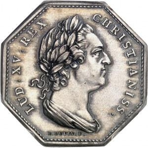 Ve République (1958 à nos jours). Jeton de la Compagnie de la Guyan[n]e Française à l'effigie de Louis XV ND (1985), Paris.