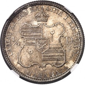 Kalakaua (1874-1891). 1/4 de dollar 1883, San Francisco.