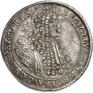 Léopold Ier (1657-1705). Thaler 1691, KB, Kremnitz.