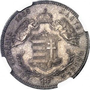 François-Joseph Ier (1848-1916). 1 forint 1869, GYF, Alba Iulia (Gyula Fehervar, Karlsbourg).