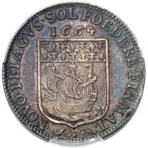 Louis XIV (1643-1715). Jeton pour la création de la Première Compagnie des Indes orientales, au nom de Daniel Voysin, prévôt des marchands de Paris 1664, Paris.