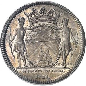 Louis XV (1715-1774). Jeton de la 2e Compagnie des Indes orientales 1723, Rennes.