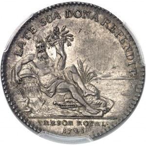 Louis XV (1715-1774). Jeton de la 2e Compagnie des Indes et du Trésor royal 1725, Paris.