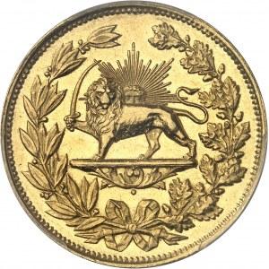Nassereddine Shah (1848-1896). Médaille de bravoure au module de 5 tomans AH 1300 (1883), Téhéran.