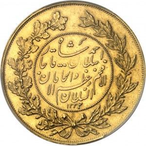 Ahmad Chah Qadjar (1909-1925). 5 tomans AH 1332/1 (1913), Téhéran.