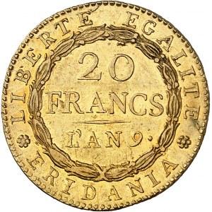 Gaule subalpine (1800-1802). 20 francs Marengo An 9, Turin.