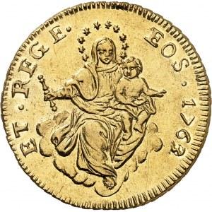 Gênes, République (1528-1797). 50 lire 1763/2, Gênes.