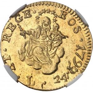 Gênes, République (1528-1797). 24 lire 1793, Gênes.