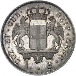 Gênes, République (1528-1797). 8 lire 1796, Gênes.