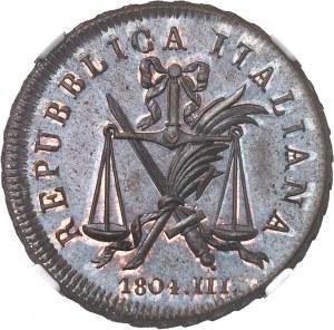 Lombardie, République italienne (1802-1805). Essai de soldo 1804 - AN III, M, Milan.
