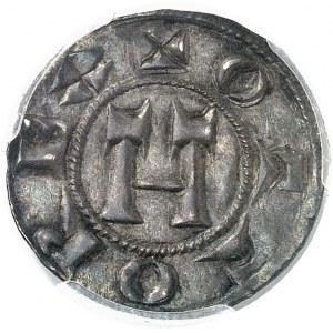 Lucques, au nom d'Otton IV (1209-1315). Denier au Volto Santo (Saint Voult) ND (1250-1257), Lucques.
