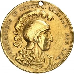Naples et Sicile, Ferdinand IV (1759-1816). Médaille d'Or de la valeur militaire 1797, Naples.