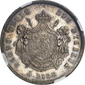 Naples, Joachim Murat (1808-1815). 5 lire 1813, Naples.