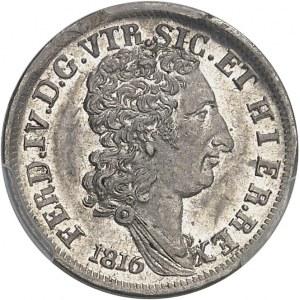 Naples, Ferdinand IV (1815-1816). Carlin ou 10 grana 1816, Naples.