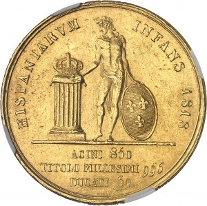 Naples, Ferdinand I (1816-1825). 30 ducats 1818, Naples.