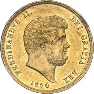 Naples et Deux-Siciles, Ferdinand II (1830-1859). 30 ducats 1850, Naples.