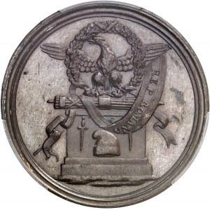 République romaine (1798-1799). Essai uniface d'avers au module d'un scudo, pour la proclamation de la République romaine ND (1798), Rome.