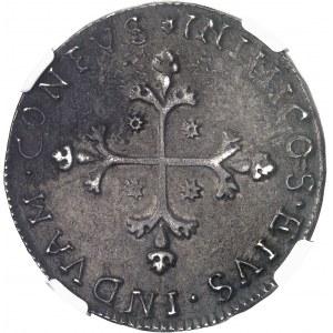 Sardaigne, Charles II d'Espagne (1665-1700). 10 reales datés 1684, Cagliari.