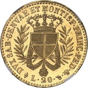 Savoie-Sardaigne, Victor-Emmanuel Ier (1814-1821). 20 lire, variété avec point après PRINC 1821, Turin.