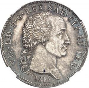 Savoie-Sardaigne, Victor-Emmanuel Ier (1814-1821). 5 lire 1816, Turin.