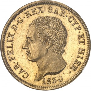 Savoie-Sardaigne, Charles-Félix (1821-1831). 80 lire 1830, ancre, Gênes.