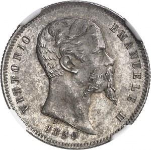 Savoie-Sardaigne, Victor-Emmanuel II (1849-1861). 1 lire 1859, B, Bologne.