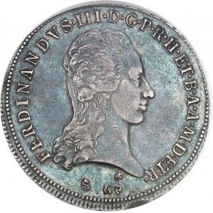 Toscane (Grand-duché de), Ferdinand III de Lorraine (1790-1801). Francescone, légende courte (ETR) 1797, Florence.