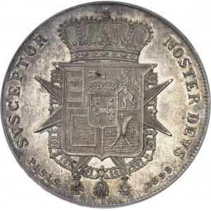 Toscane (Grand-duché de), Léopold II (1824-1849). Francescone (4 fiorini ou 10 paoli) 1858, Florence.