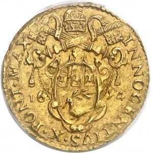 Vatican, Innocent X (1644-1655). Doppia 1654, Bologne.