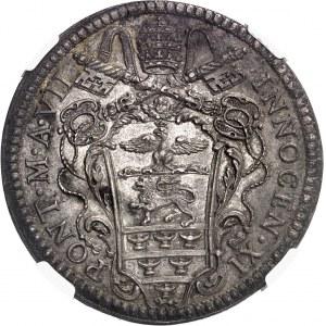 Vatican, Innocent XI (1676-1689). Demi-piastre 1683, Rome.